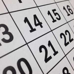 trustee calendar